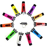 UV NEON FACE & BODY PAINT 10ML COLOURS AVAILABLE by PaintGlow (1, UV Violet) by paintglow