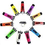 Fluo UV Peinture De Visage & Corps 10ml 8 Couleurs Disponible par Peinture brillante - UV Orange, EU 33