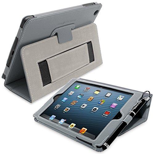 Snugg iPad Mini 1/2 Caso (Grigio), Copertura Ecopelle Intelligenti 'Executive',