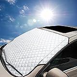 Ariymap Autoabdeckung Windschutzscheibe Sonnenschutz Für Autos   Magnetabdeckung Für Windschutzscheibe   Autoabdeckung Für Schnee (Silber, 147 * 100cm)