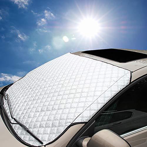 Semine Pare-Brise de Voiture Couverture Pare-Brise Soleil Ombre Bords magnétiques Tous Les Temps Pare-Brise Avant de Voiture