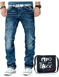 Cipo & Baxx Herren Jeans Hose Freizeit Clubwear inkl. Tasche