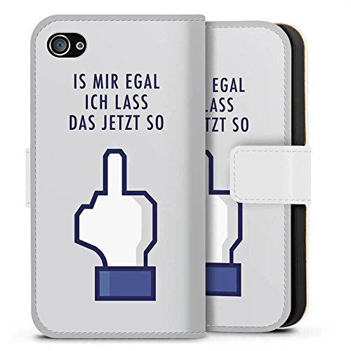 Apple iPhone X Silikon Hülle Case Schutzhülle Like Egal Statements Sideflip Tasche weiß