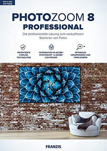 FRANZIS PhotoZoom 8 professional|Bildbearbeitung|Fotografie für Laien und Profis|Verlustfrei vergrößern bis zu 800 {53aeb289d6bf91db4fd36b4d53c9cd3edebad3a6d923e36a73f3f98b3dbae9f7}|für Windows & Mac|Disc|Disc