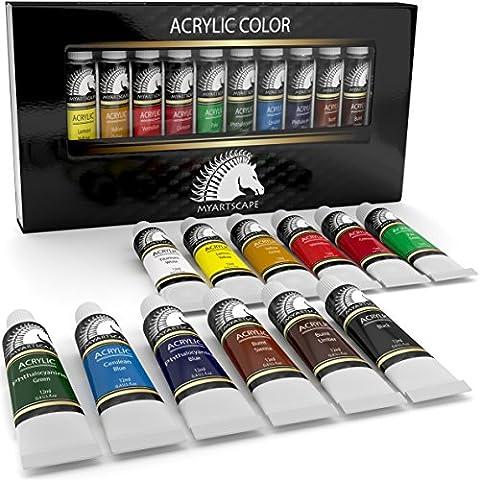 Set–artista colori per pittura acrilica pittura su tela, legno, Argilla,