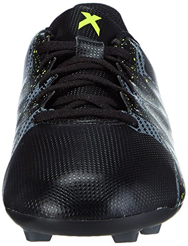 adidas Chaos Entry Fxg, Chaussures de Football mixte enfant Noir (core Black/solar Yellow/night Met. F13)