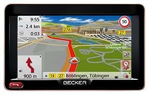 "BECKER Ready 50 LMU Sat Nav, 12.7 cm (5"") Display, Europe Maps (44 Countries), Lifetime Map Updates, SituationScan, 3D Terrain View, Black/Mocca-Metallic"