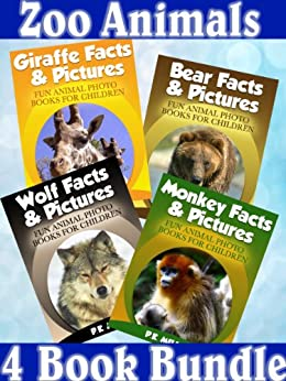 PDF Descargar Zoo Animals - 4 Book Bundle (Bear Facts & Pictures + Giraffe Facts & Pictures + Monkey Facts & Pictures + Wolf Facts & Pictures)
