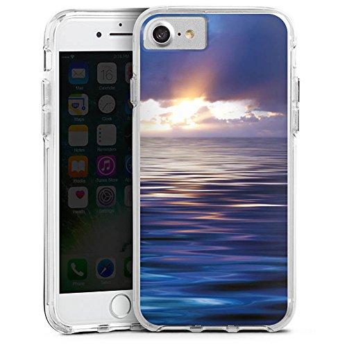 Apple iPhone 6s Bumper Hülle Bumper Case Glitzer Hülle Ozean Sonnenuntergang Mer Bumper Case transparent