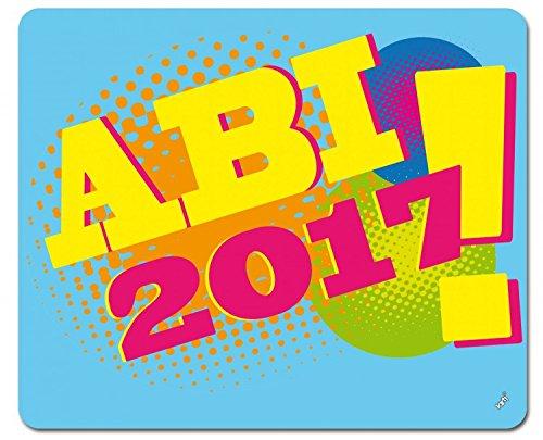 Preisvergleich Produktbild 1art1 104930 Schule - Abi 2017, Pop-Art Mauspad 23 x 19 cm