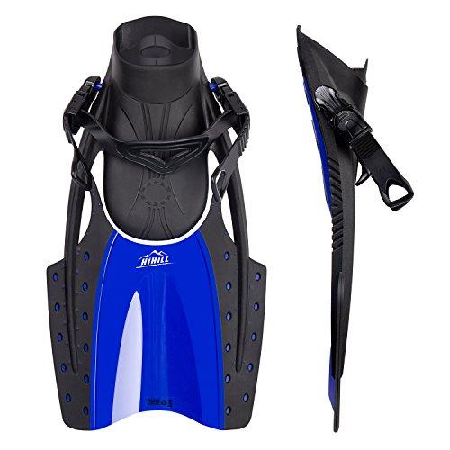 Aletas de Natación HIHILL Aletas de Buceo Comodidad Flexible 18.11*9.25*2.55 Pulgadas Para Natación y Snorkeling Deportes Acuáticos (FP-F2)