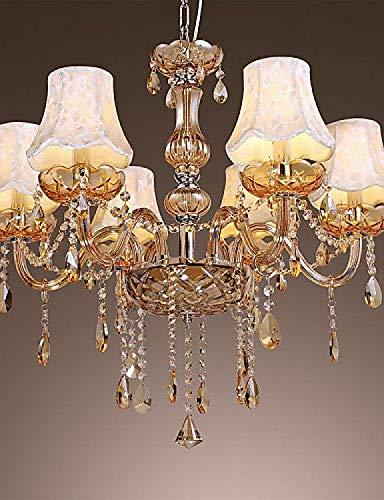 Ywqwdae Luxus-6-Licht-Kronleuchter im europäischen Stil mit K9-Kristall 220-240 V M4091 [Energieklasse A +] -
