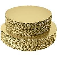 [25 unidades] 10 pulgadas, base redonda para tartas, redonda y desechable, base circular para tartas, 10 pulgadas, paquete de 25