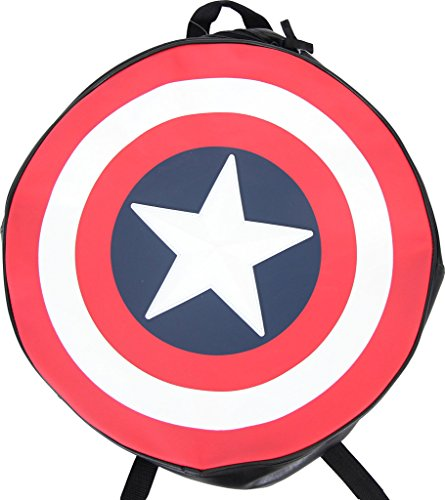Marvel Comics Captain America Black Backpack/Shield