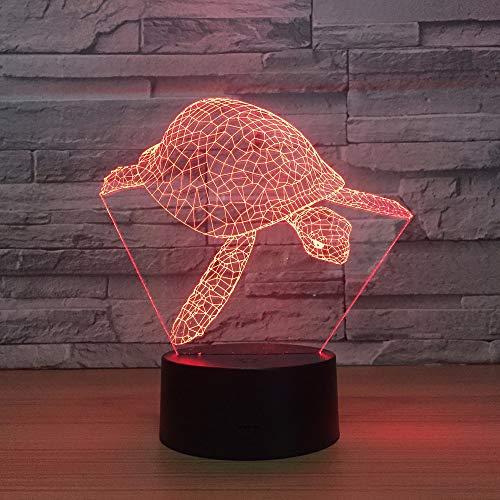 Neue Schildkröte 3d Led Kleine Kinder Lampe Remote Touch schalter Schöne 7 farbwechsel 3D Lampe weihnachtsschmuck geschenk für baby zimmer -