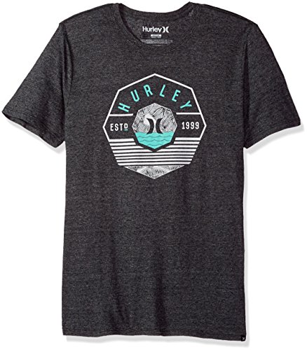 Hurley - Herren Original Pocket Premium T-Shirt, Small, Black - Hurley-t-shirt Pocket