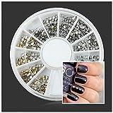 Bluelover Quadrato Rotondo Colore Metallo DIY Nail Art Decorazione Ruota