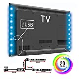 USB LED TV Strip Light Colour Changing 5V RGB 5050 Decorative Lighting TV PC Back Mood Lights Livingroom Bedroom (2X50CM)