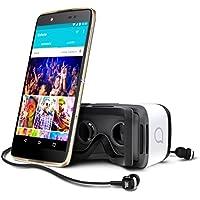 Alcatel Idol 4 smartphone débloqué 4G avec casque de réalité virtuelle offert (Ecran : 5,2 pouces - 16 Go - Double Nano-SIM - Android 6.0.1) Or