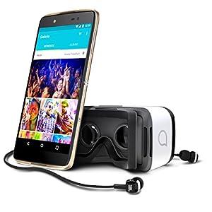 Alcatel-Idol-4-Smartphone-Libre-Android-Pantalla-52-cmara-13-MP-16-GB-Octa-Core-17-GHz-3-GB-RAM-Dorado-con-Gafas-de-Realidad-Virtual