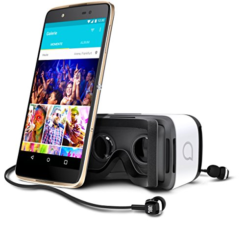 "Alcatel Idol 4 - Smartphone libre Android (pantalla 5.2"", cámara 13 Mp, 16 GB, Octa-Core 1.7 GHz, 3 GB RAM), dorado - con Gafas de realidad virtual"