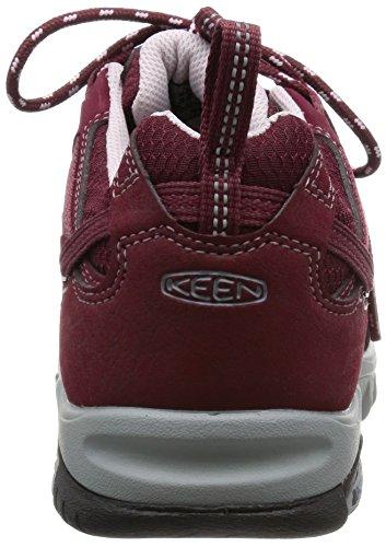 Keen Saltzman Wp, Chaussures de Randonnée Basses Femme Rouge (Zinfandel/Lavender Fog)