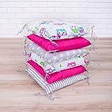 Amilian® Baby Nestchen Bettumrandung 210 cm Design8 Bettnestchen Kantenschutz Kopfschutz