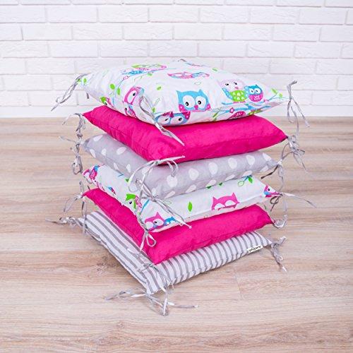 Baby Nestchen Bettumrandung 210 cm Design8 Bettnestchen Kantenschutz Kopfschutz für Babybett Bettausstattung