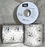 1 Stück LOLLIPOP'Wedding'-Toilettenpapier-Rolle, 3-lagig, 200 Blatt