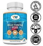 Mariendistel PLUS | Hochdosiert 5700mg | Extrakt Enthält 80% Sylimarin | 60 Vegetarisch Kapseln | Ergänzung für Leber reinigen und Detox mit Verdauungsenzymen | Non-GMO, Glutenfrei durch Vitaminway.
