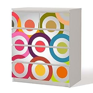 m belfolie retro circle 70er dekorfolie f r schr nke. Black Bedroom Furniture Sets. Home Design Ideas