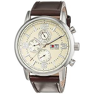 Reloj para Hombre Tommy Hilfiger 1710337, Mecanismo de Cuarzo, Diseño con varias esferas, Correa de Piel