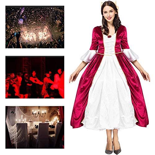 Teufel Kostüm Weiblich Makeup - JH&MM Gerichtsprinzessin des Halloween-Kostüms weibliche Retro- europäische Kaiserdrama-Stadiumskostüme