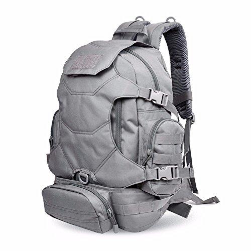 TBB-Alpinismo sacchetto doppio viaggio borsa a tracolla multi-funzione zaino all'aperto,Giallo 40L Grey 40L
