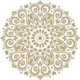 TODO STENCIL Deco Adamascado 072 Mandala, Medidas: Stencil 20 x 20 cm - Diseño 18 x 18 cm