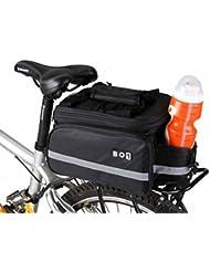 sprigy (TM) BOI Bolsa de la bicicleta de montaña 13L extensible doble Side Asiento Posterior Tronco Bolsa Pannier Bolsa de viaje MTB Bicicleta