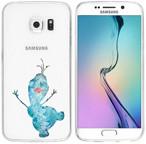 Samsung Galaxy S6 Edge Hülle von licaso® für das Galaxy S6 Edge aus TPU Silikon Schneemann Aquarell Winter Comic Muster ultra-dünn schützt Dein Samsung Galaxy S6 Edge & ist stylisch Schutzhülle Bumper in einem (Samsung Galaxy S6 Edge, Schneemann Aquarell)