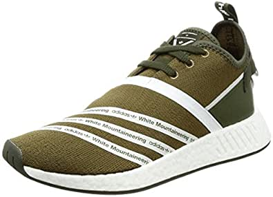 adidas WM NMD R2 PK, Chaussures de Fitness Homme, Multicolore-Vert Olive (Olitra/Ftwbla/Ftwbla), 44 EU