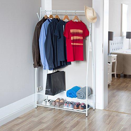 Relaxdays ropa soporte con zapatero sandra metal de for Zapatero 40 cm ancho