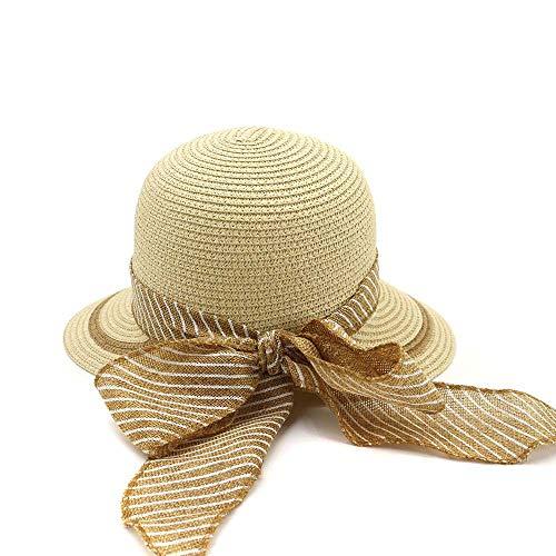QZQWANAD Hand Haken Lafite Gras Bowknot dünne gewebte Strohhut Kostüm