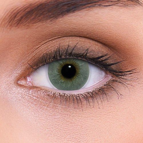 """Stark deckende natürliche graue Kontaktlinsen farbig """"Platinum Grey"""" + Behälter von LENZOTICA I 1 Paar (2 Stück) I DIA 14.00 I ohne Stärke I 0.00 Dioptrien (Neuheit Kontaktlinsen)"""