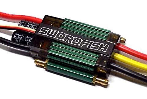 RCECHO® SKYRC SWORDFISH RC Marine 120A Water Cooled Brushless ESC Speed Controller SL720 avec RCECHO® Version Complète Apps
