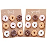 2 Donut-Wände / Donut-Aufsteller Treat Yourself aus Holz im Vintage Stil Zum Aufstellen für 2x9 Donuts - Back-Zubehör / Präsentation Gebäck / Backen / Kuchen-Buffet / Hochzeits-Deko