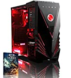 Vibox VBX-PC-8511 Ultra 11XL Gaming Desktop-PC (AMD A Series A8-7600, 32GB RAM, 2TB HDD, AMD Radeon R7, kein Betriebssystem) rot