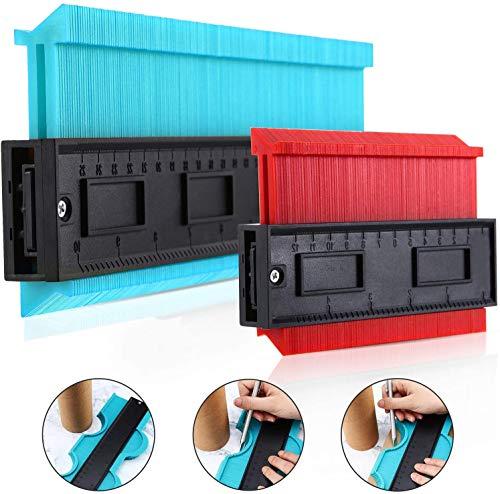 2er Packung Kunststoffkonturlehre Profillehre Duplikator Kopieren Sie die Verfolgung unregelmäßiger Formen Schablonenmesswerkzeug für Passform und einfaches Schneiden