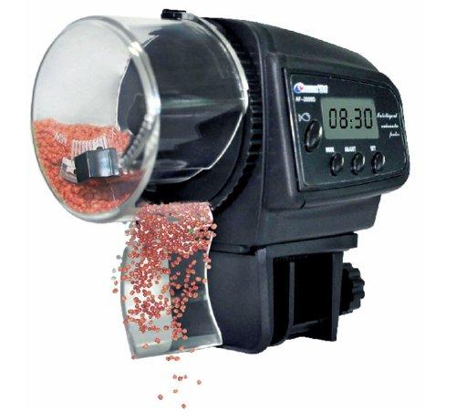 Covvy Lysport Automatic Fish Feeder Digital Aquarium Fish Tank Food Feeder Timer Electronic Aquarium Feeder Auto Pet Feeder with LCD Display