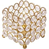 Decor & Craft Emporium Crystal Tealight Holder With LED Candle Stand 179 For The Great Indian Sale