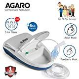 Agaro Compressor Nebulizer - NB 21 Complete Kit with Child & Adult Mask