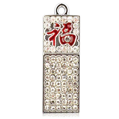 818-Shop No7500050336 Hi-Speed (USB 3.0 16GB) Speichersticks Anhänger Symbol Glück Silber - Hi-tech-anhänger