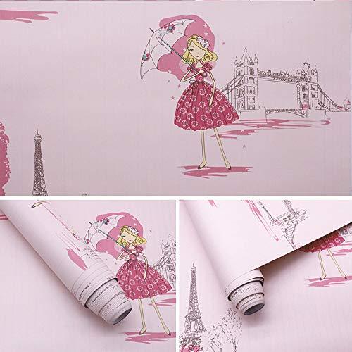 lsaiyy 10 m Cartoon Student PVC Schlafsaal Tapete Dekoration Kinderzimmer Selbstklebende Tapete-45CMX10M